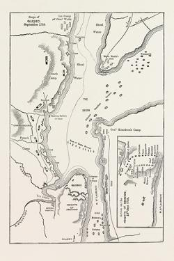 Plan of the Siege of Quebec, Canada, 1870s