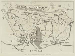 Plan of Volunteer Review Ground, Near Portsmouth