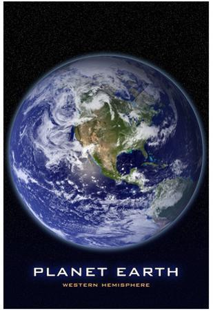Planet Earth From Space Western Hemisphere Photo Poster