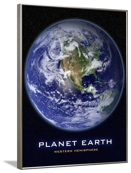 Planet Earth from Space Western Hemisphere Photo Poster--Framed Poster