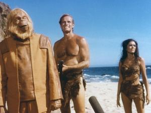PLANET OF THE APES, 1968 directed by FRANKLYN J. SCHAFFNER Maurice Evans, Charlton Heston and Linda
