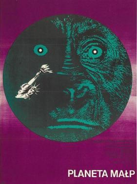 Planet of the Apes, Polish Movie Poster, 1968