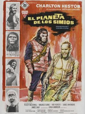 Planet of the Apes, Spanish Movie Poster, 1968