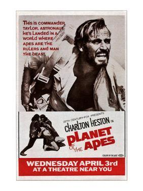 Planet of the Apes, Top: Charlton Heston, 1968