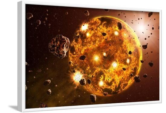 Planetary Formation, Artwork-Take 27 LTD-Framed Photographic Print