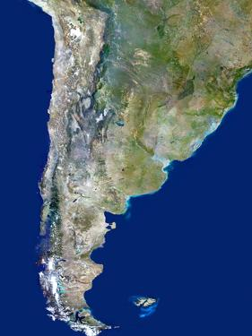Chile And Argentina, Satellite Image by PLANETOBSERVER