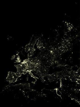 Europe At Night, Satellite Image by PLANETOBSERVER