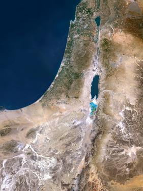 Israel, Satellite Image by PLANETOBSERVER