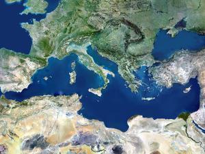 Mediterranean Basin, Satellite Image by PLANETOBSERVER