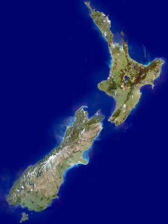 New Zealand, Satellite Image by PLANETOBSERVER