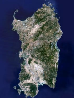 Sardinia, Satellite Image by PLANETOBSERVER