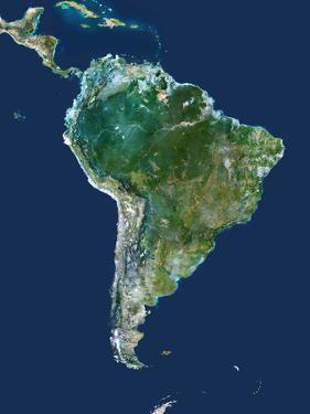 South America, Satellite Image by PLANETOBSERVER