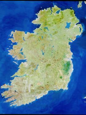 True-colour Satellite Image of Ireland by PLANETOBSERVER