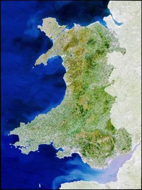 True Colour Satellite Image of Wales by PLANETOBSERVER