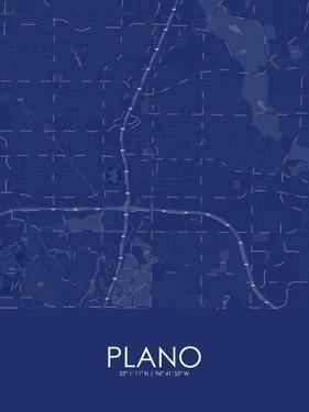 Plano, United States of America Blue Map