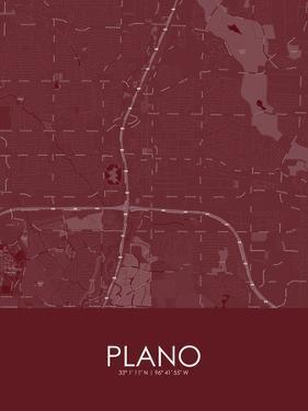 Plano, United States of America Red Map