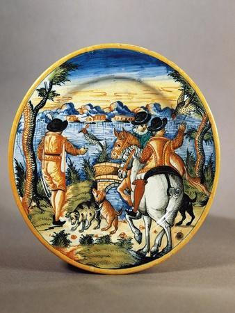 https://imgc.allpostersimages.com/img/posters/plate-depicting-falcon-hunting-scene-maiolica-nevers-manufacture-burgundy-france_u-L-POPVLD0.jpg?artPerspective=n