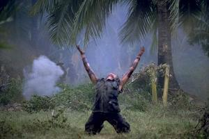 Platoon Willem Dafoe as Sgt Elias Arms Up Movie Poster Print
