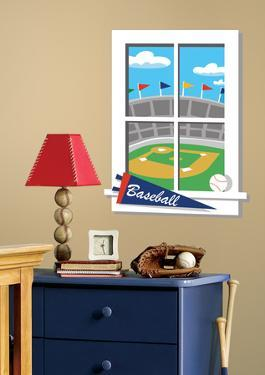 Play Ball Peel & Stick Window Wall Decal