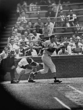 Player Stan Musial Making His 3000Th. Hit