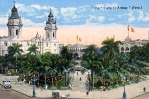 Plaza De Armas, Lima, Peru, Early 20th Century