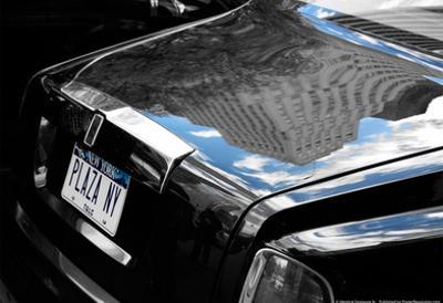 Plaza Hotel Reflection in Rolls Royce