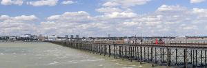 Pleasure Pier at an Estuary, Southend Pier, Southend-On-Sea, Essex, England