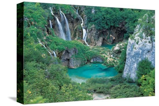 Plitvice Lakes Croatia--Stretched Canvas