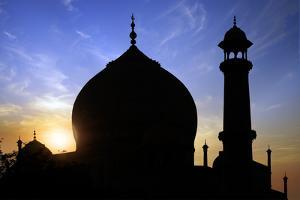 Taj Mahal White Marble Mausoleum. by plotnikov