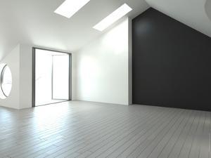 An Empty Loft Interior by PlusONE
