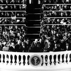 Poet Robert Frost Reading a Poem at the Inaugural Ceremony for President John F. Kennedy