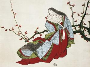 Poetess Ono No Komachi (Ca 825-900) from L'Art Magazine, 1875, Japanese Civilization