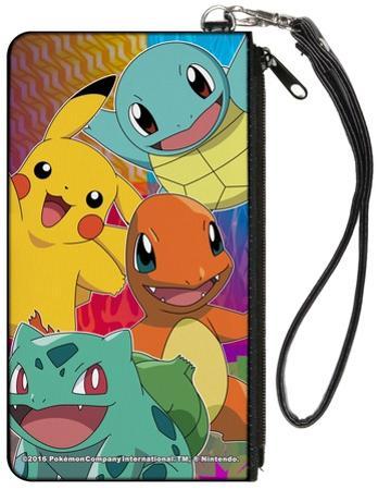 Pokemon Four Starters Canvas Zip Wallet
