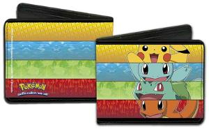 Pokemon Kanto Starter Striped Wallet