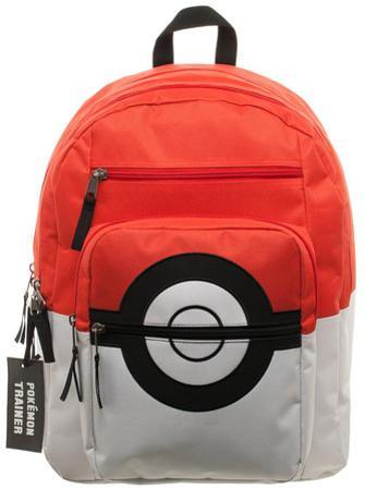 Pokemon Pokeball Backpack with Charm