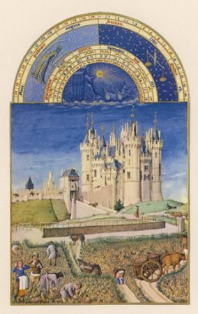 September the Wine Harvest Takes Place Close to the Chateau De Saumur by Pol De Limbourg