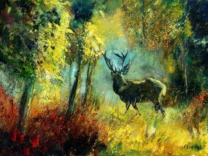 A Stag in the Wood by Pol Ledent