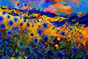 Blue Cornflowers 756 by Pol Ledent