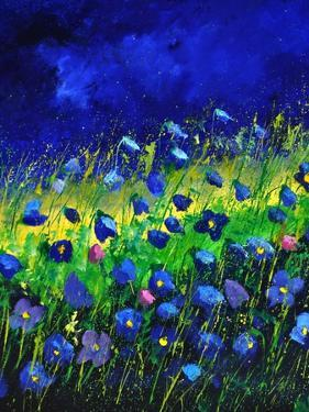 Blue Poppies 674160 by Pol Ledent