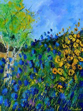 Blue summer flowers by Pol Ledent