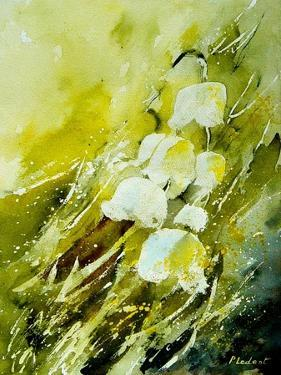 Lilies of the Valley Watercolor by Pol Ledent
