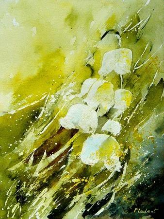 Lilies of the Valley Watercolor