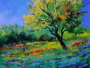 Oak Amid Flowers In Texas by Pol Ledent