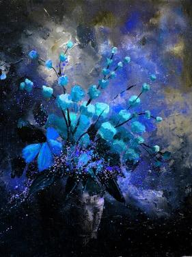 Still Life Blue Flowers by Pol Ledent