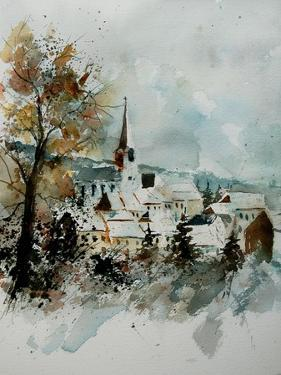 Watercolor Houyet by Pol Ledent