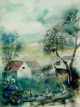 Watercolor Monceau by Pol Ledent