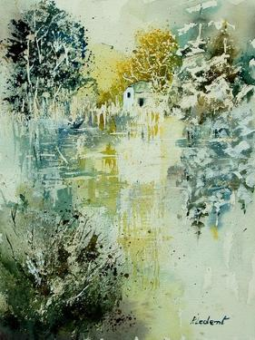 Watercolor Watermill by Pol Ledent