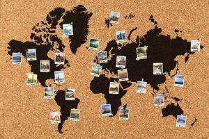 Polaroid World Map