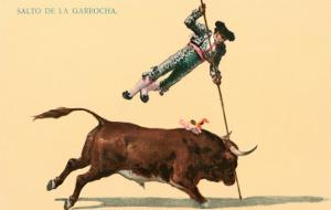 Pole Vaulting over Bull