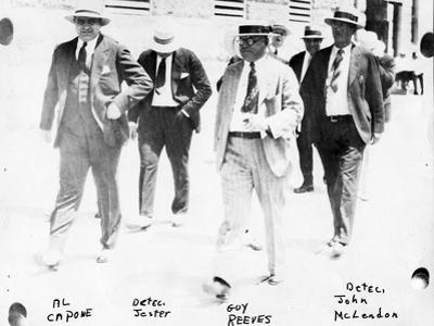 Police and Detectives Escort Al Capone, C.1930